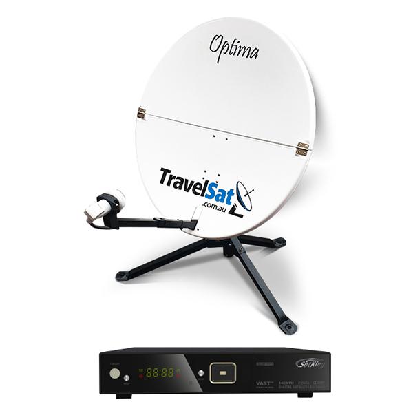 TravelSat Optima-T2 Portable VAST Satellite TV Kit (LITE)