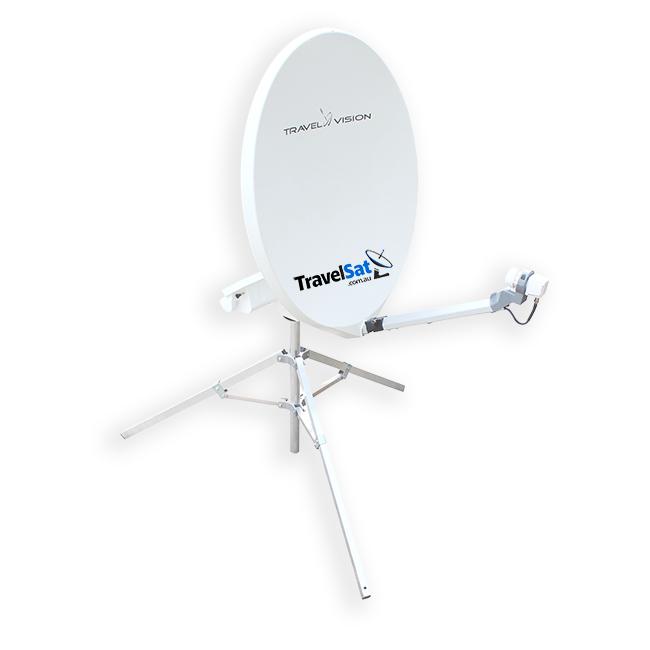 ON SALE - Travel Vision R6 Automatic Mobile Satellite Dish - BONUS FREE VAST DECODER